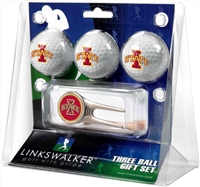Iowa State Cyclones 3 Ball Gift Pack w/ Cap Tool