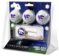 Kansas State Wildcats 3 Ball Gift Pack w/ Cap Tool