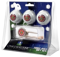 Louisiana Ragin' Cajuns 3 Ball Gift Pack w/ Cap Tool