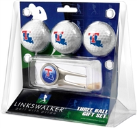 Louisiana Tech Bulldogs 3 Ball Gift Pack w/ Cap Tool