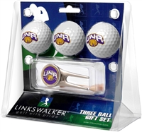 North Alabama Lions UNA 3 Ball Gift Pack w/ Cap Tool