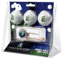 North Carolina Wilmington Seahawks 3 Ball Gift Pack w/ Cap Tool