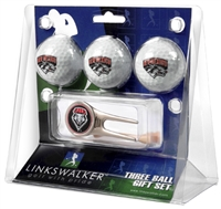 New Mexico Lobos 3 Ball Gift Pack w/ Cap Tool