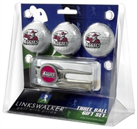 New Mexico State Aggies 3 Ball Gift Pack w/ Cap Tool