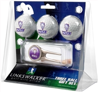 Northwestern State University Demons 3 Ball Gift Pack w/ Cap Tool