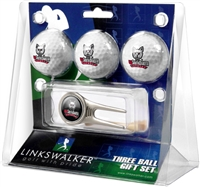 South Dakota Coyotes 3 Ball Gift Pack w/ Cap Tool