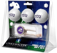 Texas Christian Horned Frogs 3 Ball Gift Pack w/ Cap Tool