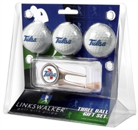 Tulsa Golden Hurricane 3 Ball Gift Pack w/ Cap Tool