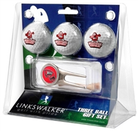 Western Kentucky Hilltoppers 3 Ball Gift Pack w/ Cap Tool