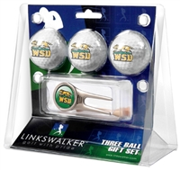 Wright State Raiders 3 Ball Gift Pack w/ Cap Tool