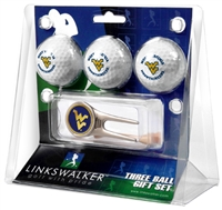 West Virginia Mountaineers 3 Ball Gift Pack w/ Cap Tool