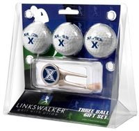 Xavier Musketeers 3 Ball Gift Pack w/ Cap Tool