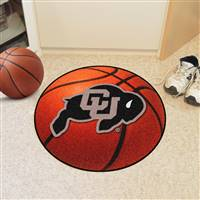 "Colorado Buffaloes Basketball Rug 29"" diameter"