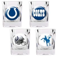 Indianapolis Colts 4pc Square Shot Glass Set (Individual Logos)