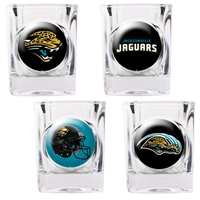Jacksonville Jaguars 4pc Square Shot Glass Set (Individual Logos)