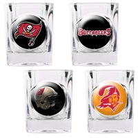 Tampa Bay Buccaneers 4pc Square Shot Glass Set (Individual Logos)