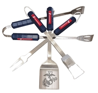 BSI Products U.S. Marine Corps 4 Pc Bbq Set
