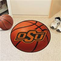 "Oklahoma State University Basketball Mat 27"" diameter"