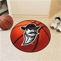 "New Mexico State (NMSU) Aggies Basketball Rug 29"" diameter"