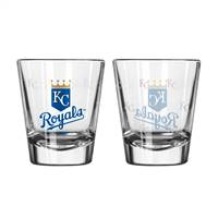 Kansas City Royals Shot Glass - 2 Pack Satin Etch