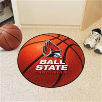 "Ball State Cardinals Basketball Rug 29"" diameter"