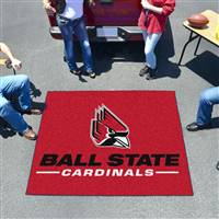 "Ball State Cardinals Tailgater Rug 60""x72"""