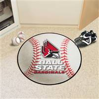 "Ball State cardinals Baseball Rug 29"" Diameter"