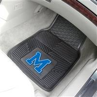 Memphis Tigers Car Mats Heavy Duty 2 Piece Vinyl