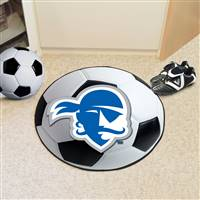 "Seton Hall University Soccer Ball Mat 27"" diameter"