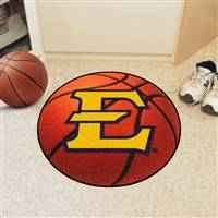"East Tennessee State Buccaneers Basketball Rug 29"" diameter"