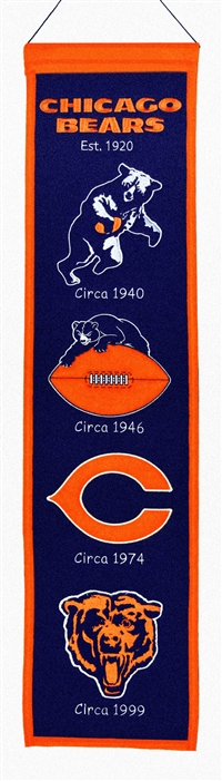 Chicago Bears Heritage Wool Banner