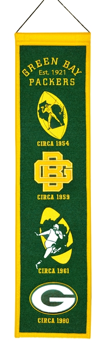 Green Bay Packers Heritage Wool Banner