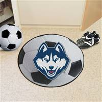 "Connecticut Huskies UCONN Soccer Ball Rug 29"" diameter"