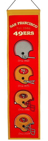 San Francisco 49ers Heritage Wool Banner