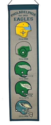 Philadelphia Eagles Heritage Wool Banner