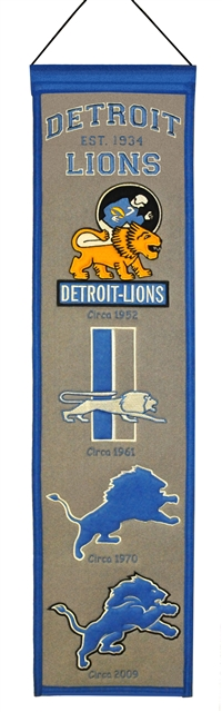Detroit Lions Heritage Wool Banner