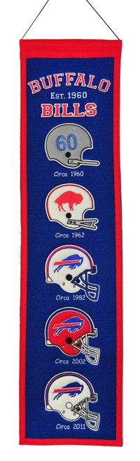 Buffalo Bills Heritage Wool Banner