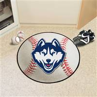 "Connecticut Huskies UCONN Baseball Rug 29"" Diameter"