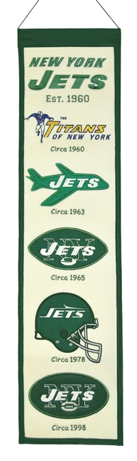 New York Jets Heritage Wool Banner