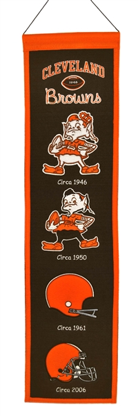 Cleveland Browns Heritage Wool Banner