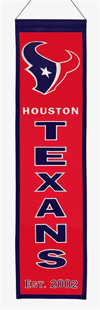Houston Texans Heritage Wool Banner