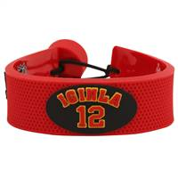 Calgary Flames Bracelet Team Color Jersey Jerome Iginla Design