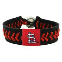 St. Louis Cardinals Bracelet Team Color Baseball StL Logo