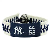 New York Yankees Bracelet Genuine Baseball CC Sabathia