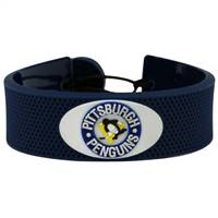 Pittsburgh Penguins Bracelet Team Color Hockey Vintage Logo