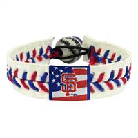 San Francisco Giants Bracelet Stars and Stripes Baseball
