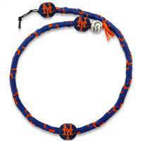 New York Mets Necklace Frozen Rope Team Color Baseball