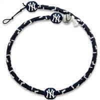 New York Yankees Necklace Frozen Rope Team Color Baseball