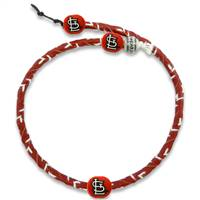 St. Louis Cardinals Necklace Frozen Rope Team Color Baseball