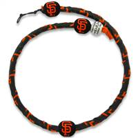 San Francisco Giants Necklace Team Color Frozen Rope Baseball